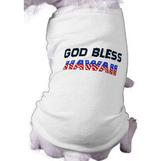God Bless Hawaii Sleeveless Dog Shirt