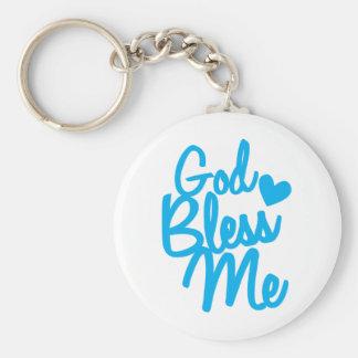 god bless me! basic round button key ring