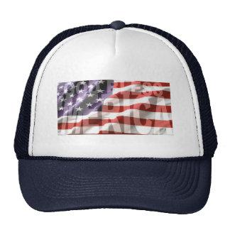GOD BLESS 'MERICA US FLAG HAT