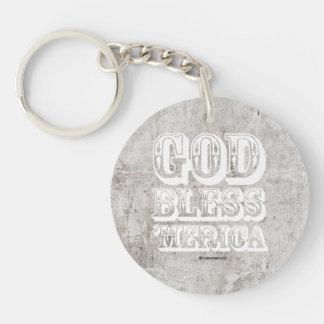 God Bless 'Merica - Western Style Single-Sided Round Acrylic Keychain