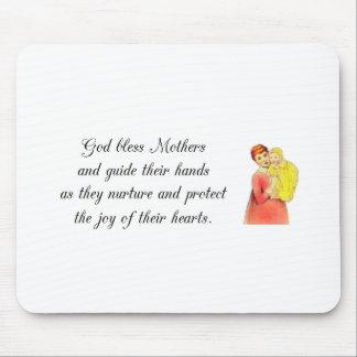 God bless Mothers Poem mousepad