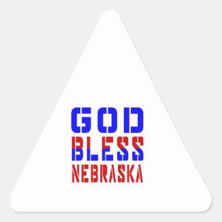 God Bless Nebraska Triangle Sticker