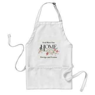 God Bless Our Home: Personalized Standard Apron