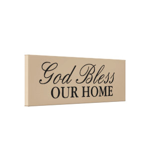 God Bless Our Home Wall Art Decor Gallery Wrapped Canvas