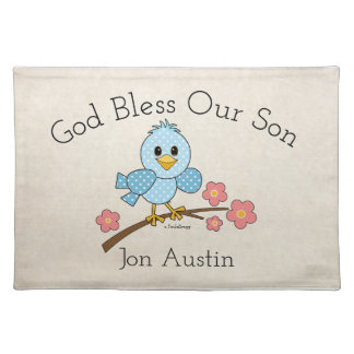 God Bless Our Son: Personalized Placemat