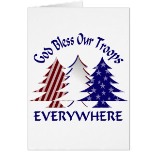 God Bless Our Troops Greeting Card