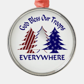 God Bless Our Troops Military Christmas Christmas Ornament