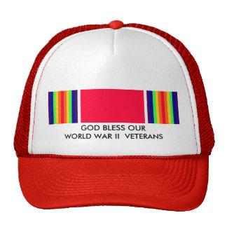 GOD BLESS OUR WORLD WAR II VETERANS MESH HAT