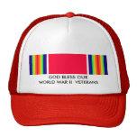 GOD BLESS OUR WORLD WAR II VETERANS TRUCKER HAT