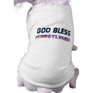 God Bless Pennsylvania Sleeveless Dog Shirt