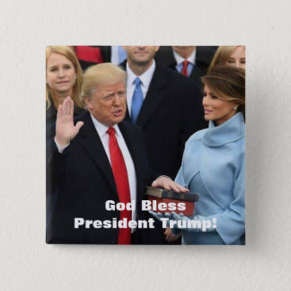 God Bless President Trump Button