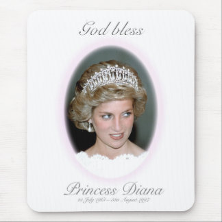 God Bless Princess Diana Mouse Pad