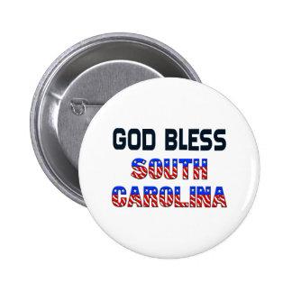 God Bless South Carolina 6 Cm Round Badge
