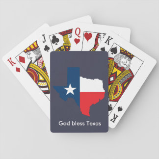 God Bless Texas Playing Cards
