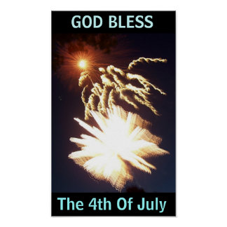 God Bless The 4th Of July Poster