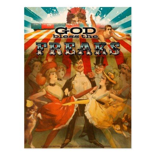 God Bless the Freaks 2 Postcards