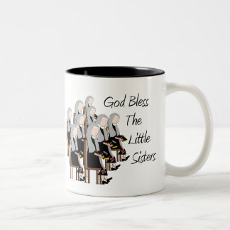 God Bless The Little Sisters Two-Tone Coffee Mug