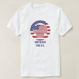 God Bless the U.S Americana Cross T Shirts