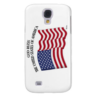 GOD BLESS THE UNITED STATES OF AMERICA US flag Galaxy S4 Covers