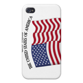 GOD BLESS THE UNITED STATES OF AMERICA US flag iPhone 4 Cases