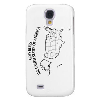 GOD BLESS THE UNITED STATES OF AMERICA US outline Samsung Galaxy S4 Cover