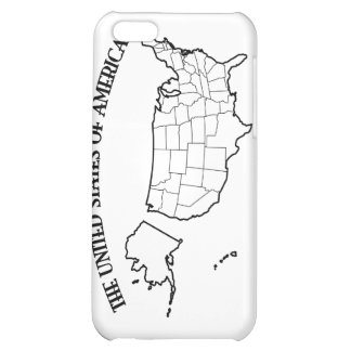 GOD BLESS THE UNITED STATES OF AMERICA US outline iPhone 5C Cases