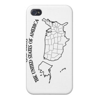 GOD BLESS THE UNITED STATES OF AMERICA US outline Covers For iPhone 4
