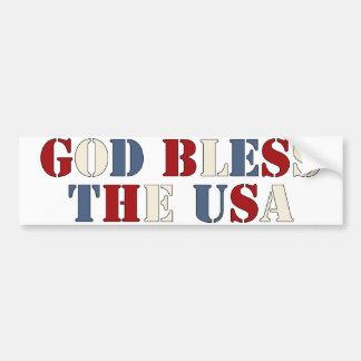 God Bless The USA Bumper Sticker