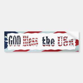GOD BLESS THE USA-BUMPER STICKER BUMPER STICKER