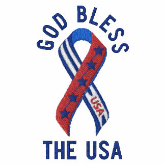 God Bless the USA Patriotic American Polo