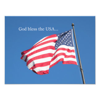 God Bless the USA… Photographic Print