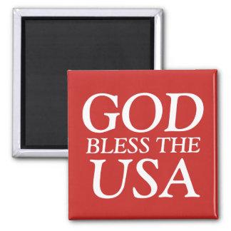 God Bless the USA Square Magnet