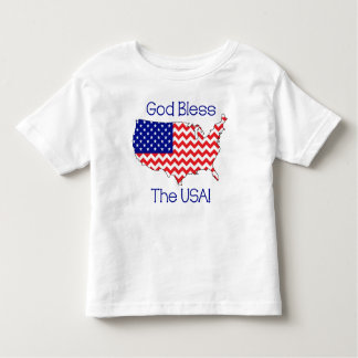 God Bless The USA Toddler T-Shirt