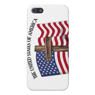 GOD BLESS UNITED STATES OF AMERICA cross US flag Covers For iPhone 5