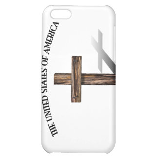 GOD BLESS UNITED STATES OF AMERICA rugged cross Cover For iPhone 5C