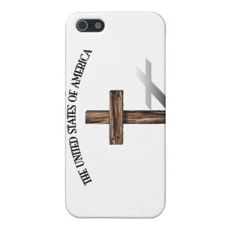 GOD BLESS UNITED STATES OF AMERICA rugged cross iPhone 5 Case