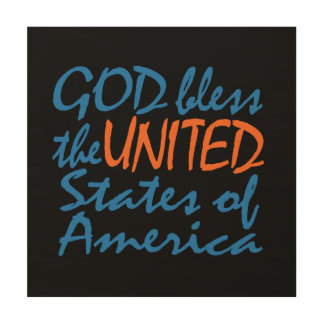 GOD BLESS UNITED STATES WALL ART