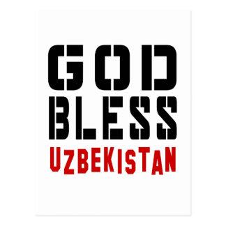 God Bless Uzbekistan Postcard