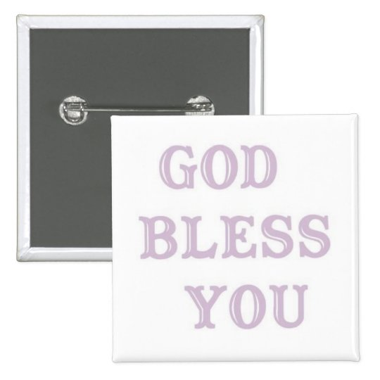 GOD BLESS YOU-1 15 CM SQUARE BADGE