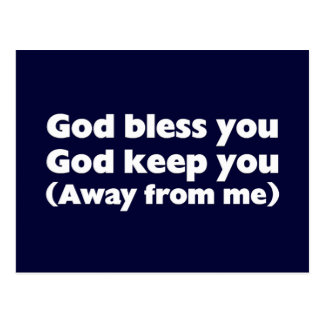 God bless you and keep you postcard