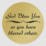 God bless you as you have blessed others