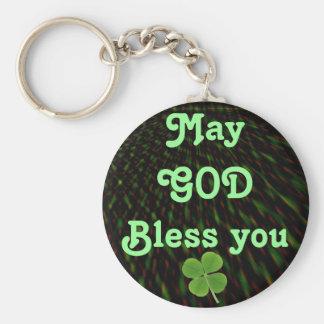 GOD Bless you keychain