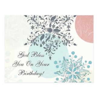 God Bless You on Your Birthday, Numbers 6:24 Bible Postcard