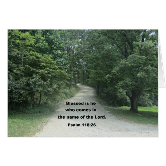 God Bless you Pastor, Psalm 118:26 Card