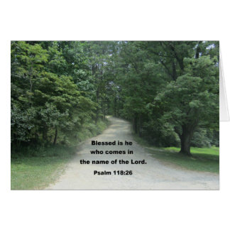 God Bless you Pastor, Psalm 118:26 Greeting Card