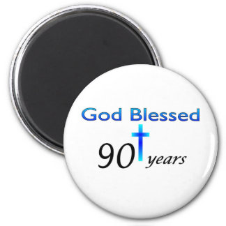 God Blessed 90 years birthday gift 6 Cm Round Magnet