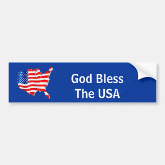 God BlessThe USA Bumper Sticker