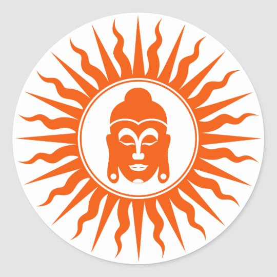 God Buddha Sign Classic Round Sticker