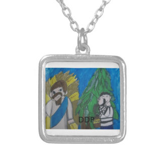 God  can  heal you square pendant necklace