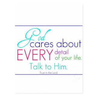 God Cares About Every Detail Of Your Life Postcard